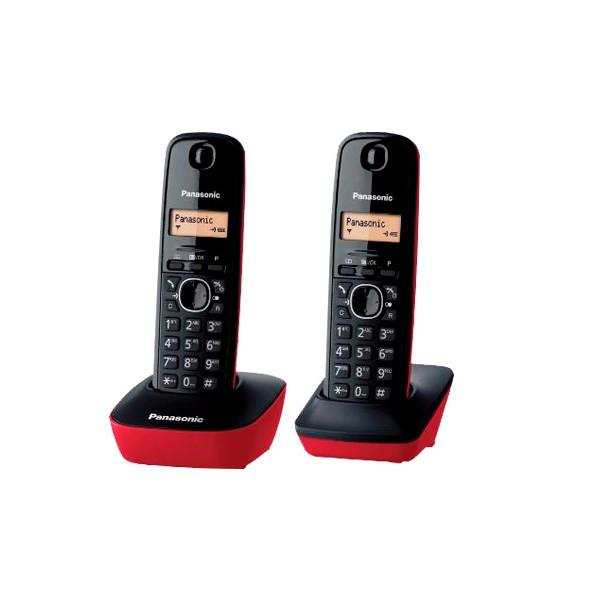 Dect duo Panasonic KX-TG1612 Red-Black