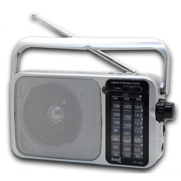 RADIO USB AUX SD CORRIENTE PILAS