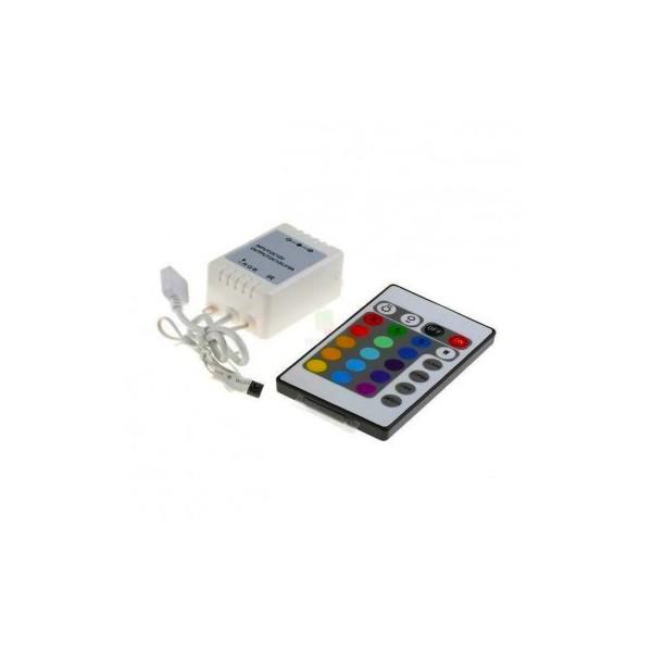 Controlador  Tira LED RGB a distancia con mando 500W